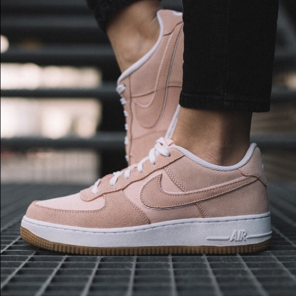 light pink suede air force 1